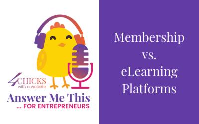 Membership vs eLearning Sites